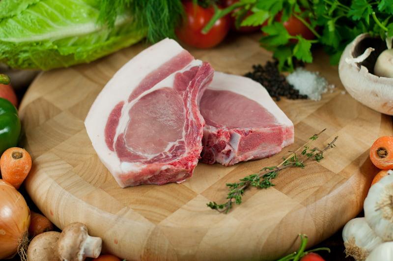 free range organic pork chops